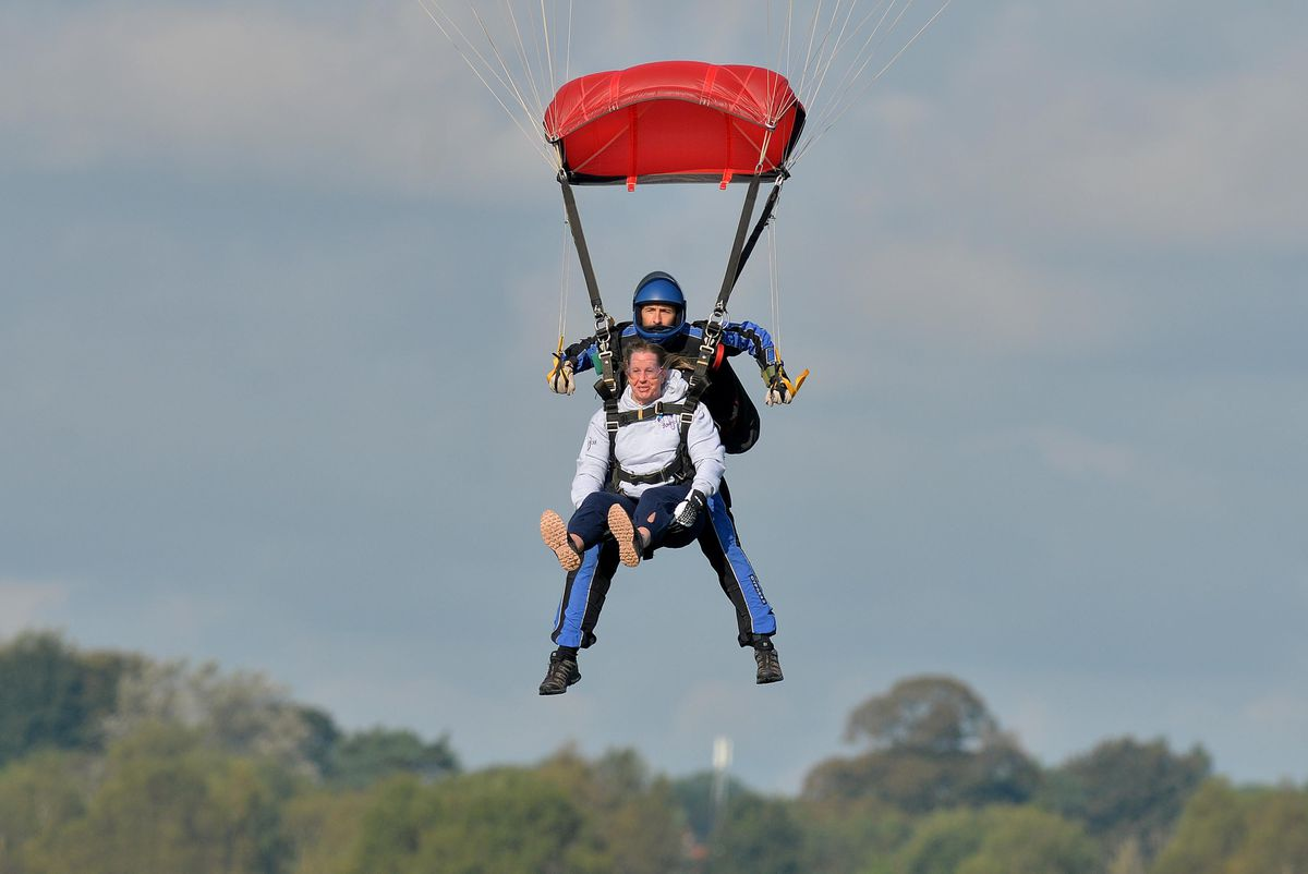 Rebecca Foster from Worcester took on the tandem skydive
