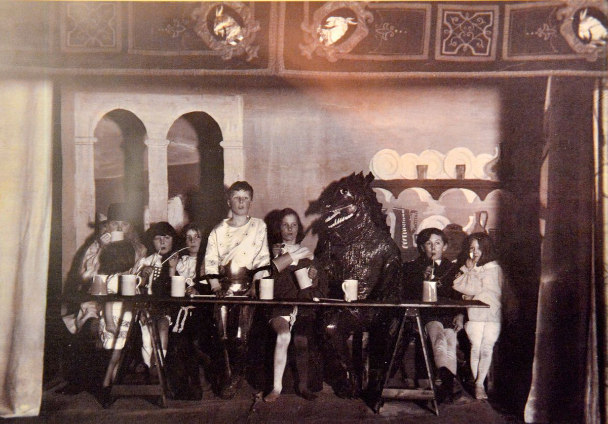 A dragon comes to tea in the 1920s.