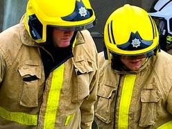 Car overturns in Shropshire crash