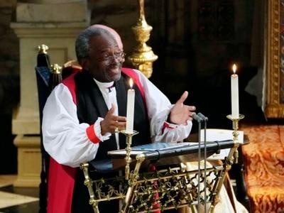 Bishop 'felt presence of slaves' at Harry and Meghan's wedding