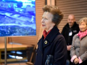 The Princess visiting the Landau charity in Telford
