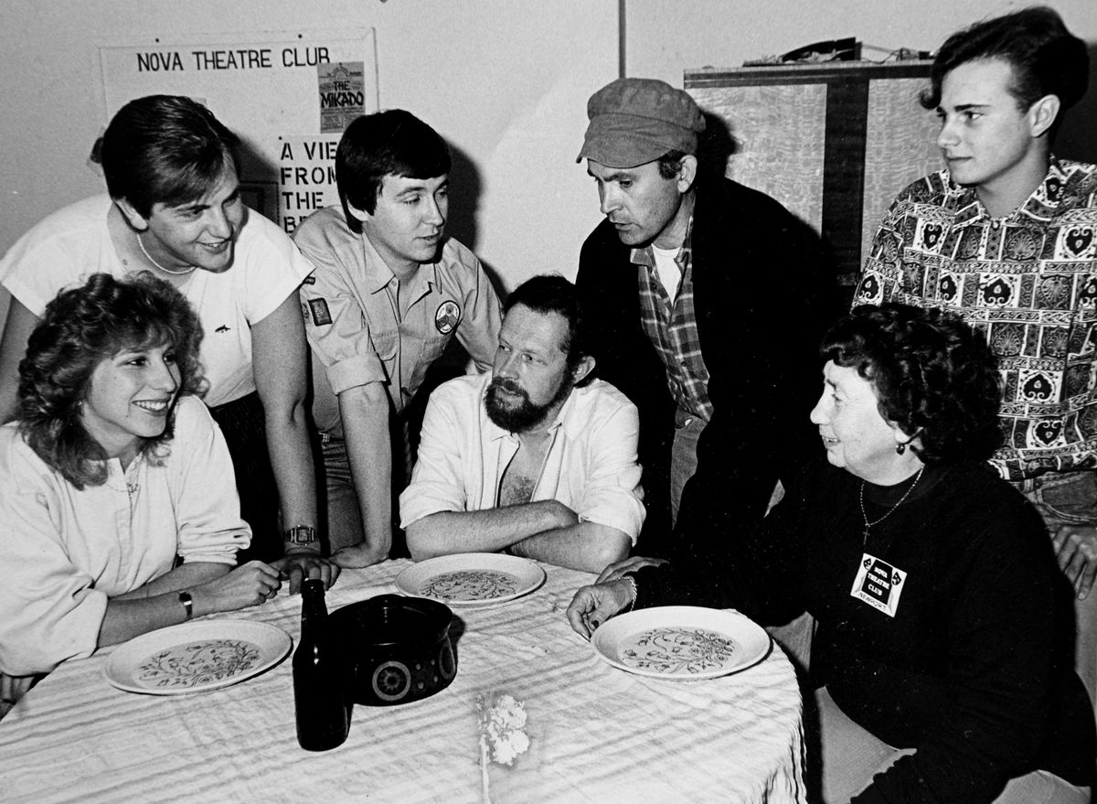 Pat (bottom right) played an active role in Nova Theatre Club for many years. This photo is likely from the 1980s