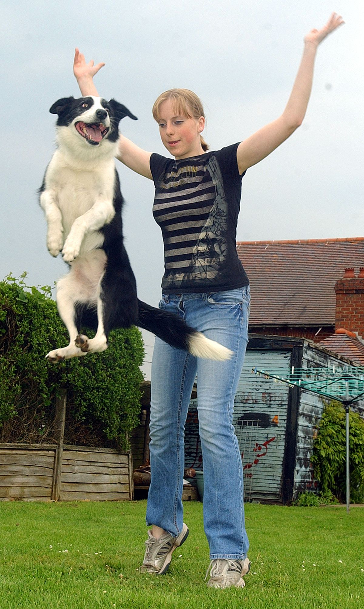 Kate Nicholas with her dancing dog Gin