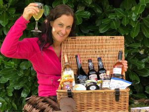 Beth Heath with one of the hampers from her range