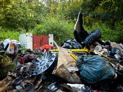 Mountains of rubbish dumped in Telford woods - with pictures and video