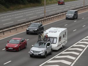 Traffic on the M5 motorway