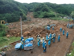 Search for survivors continues after flooding and mudslides in Japan