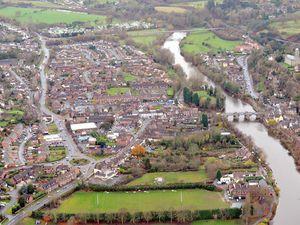 An aerial view of Bridgnorth