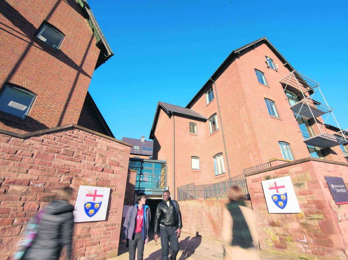 University Centre Shrewsbury has shut until after the Easter break