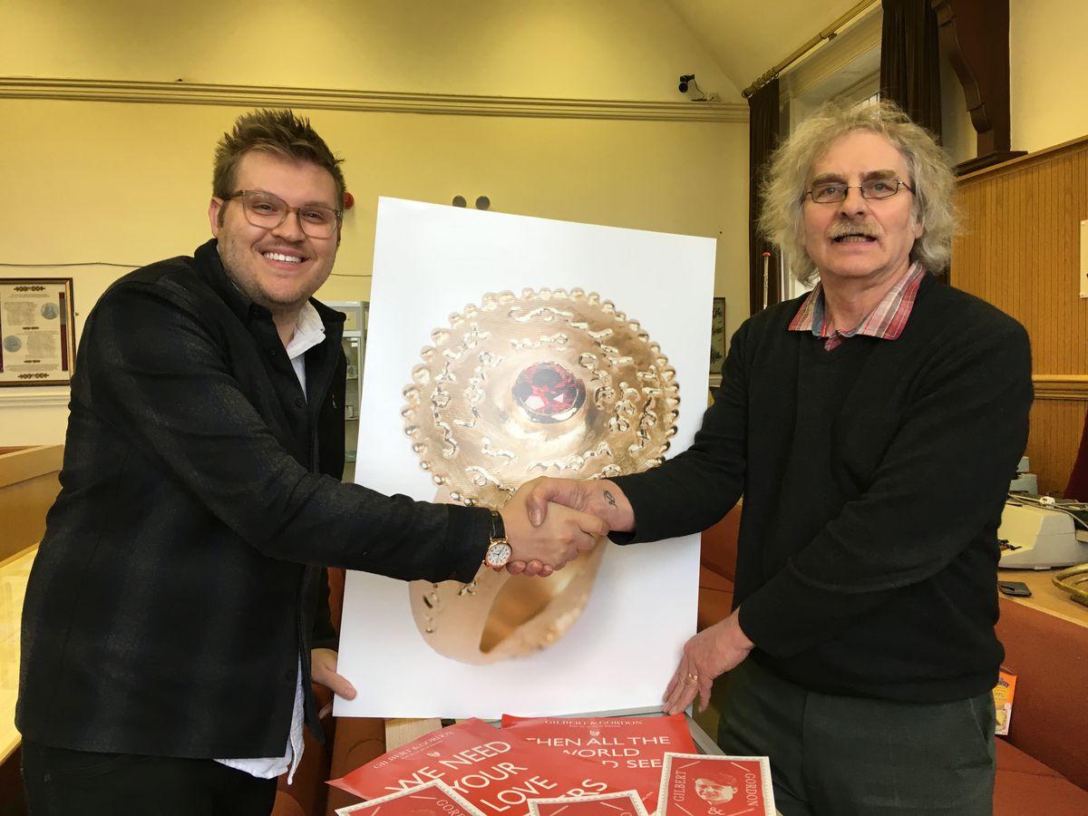 Film director, Andrew Vallentine in Oswestry to meet Mark Hignett