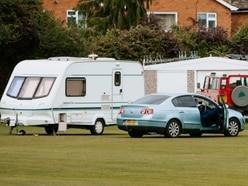 Travellers set up camp on Bridgnorth cricket pitch