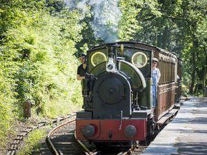 Locomotive Edward Thomas in steam on Talyllyn Railway this summer.