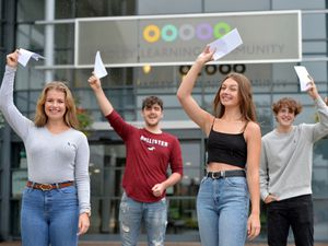 From left, Lara Riddell, Benjamin Jensen, Demi Hancox and  Brook Jenkins, all 16, at Hadley Learning Community, Telford