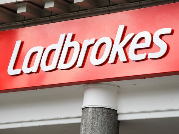 A Ladbrokes shop sign