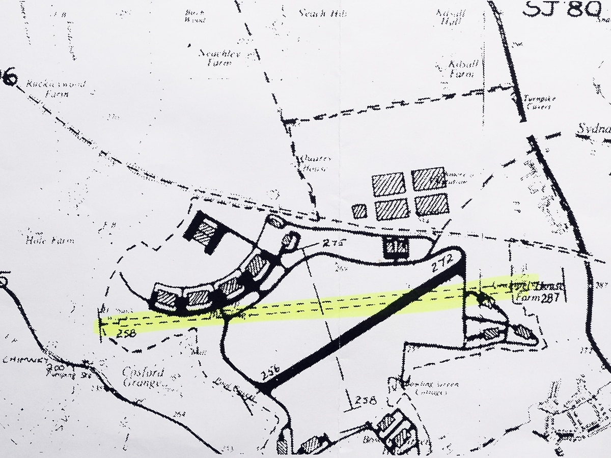 Clues Dug Up On Second Raf Cosford Runway Map Shropshire