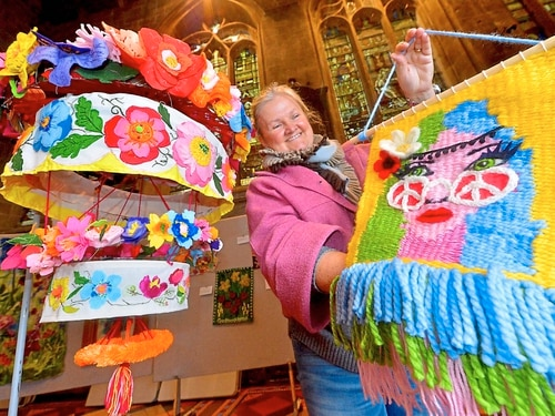 Creations for Shrewsbury competition inspired by flower power - in pictures