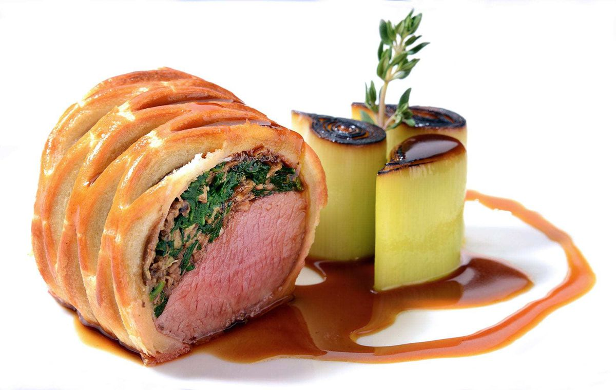 A lamb puff pastry wellington is another favourite dish