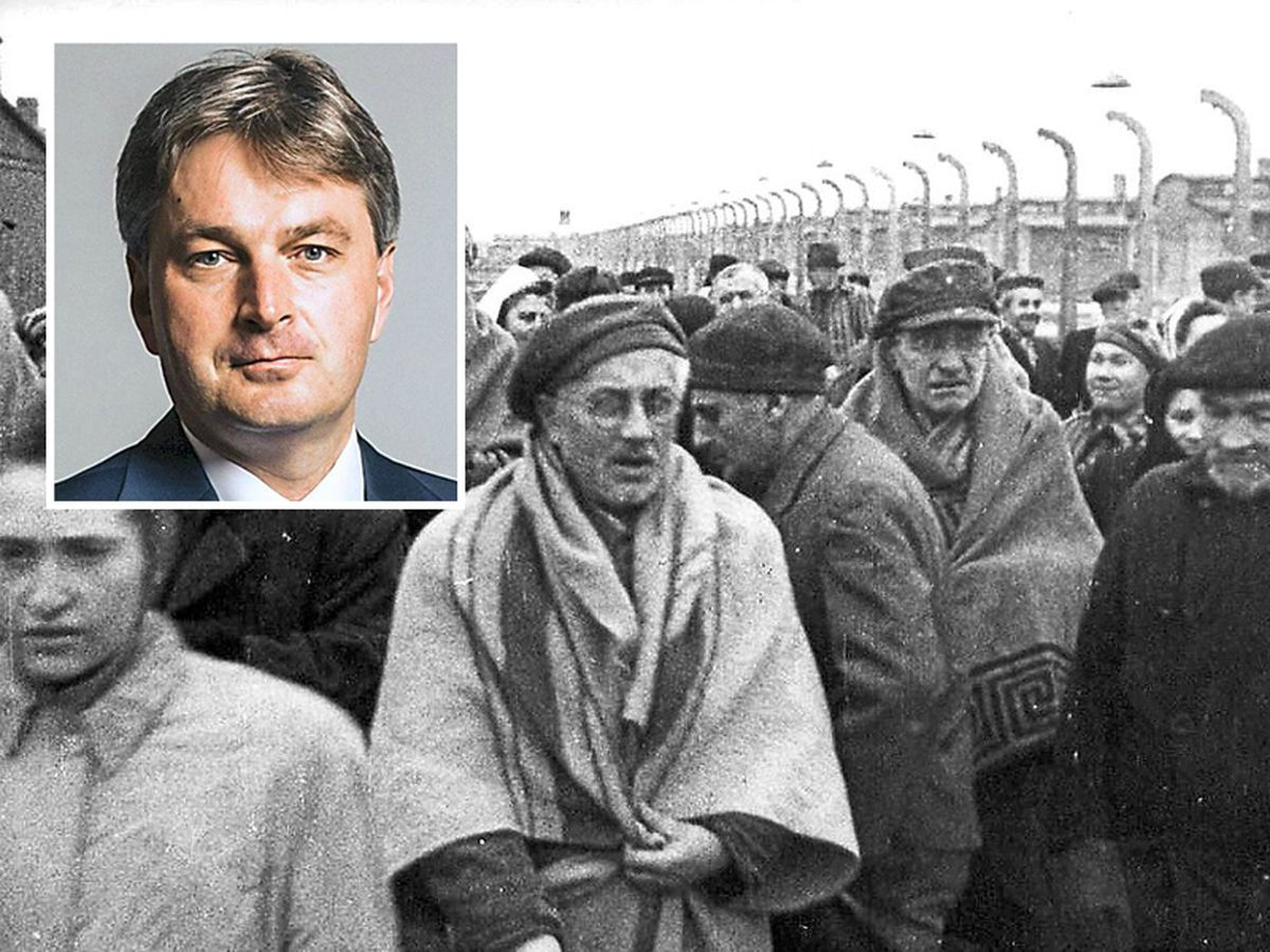 It is thought up to 20 million were killed in the Holocaust. Inset: Daniel Kawczynski MP.