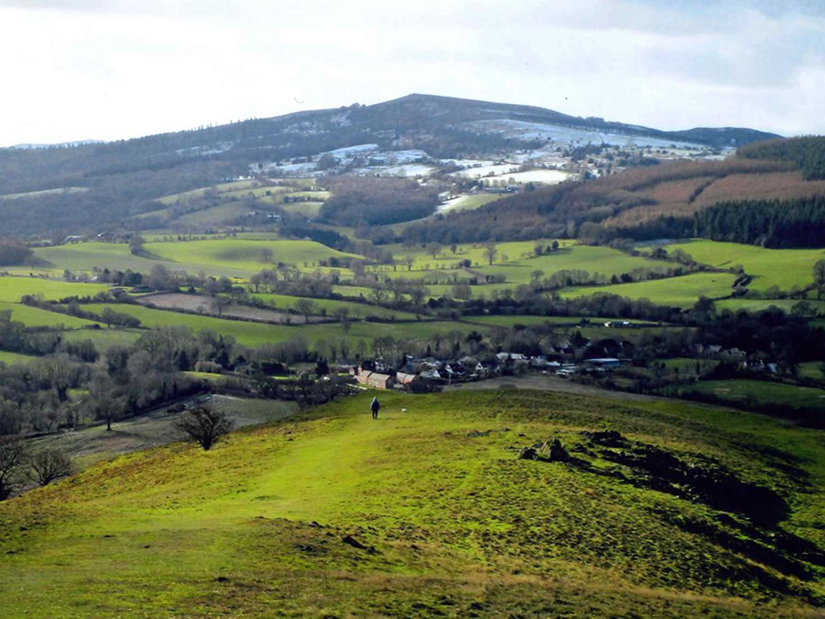 The snow from Earl's Hill, Pontesbury. Photo: Dave Evans.