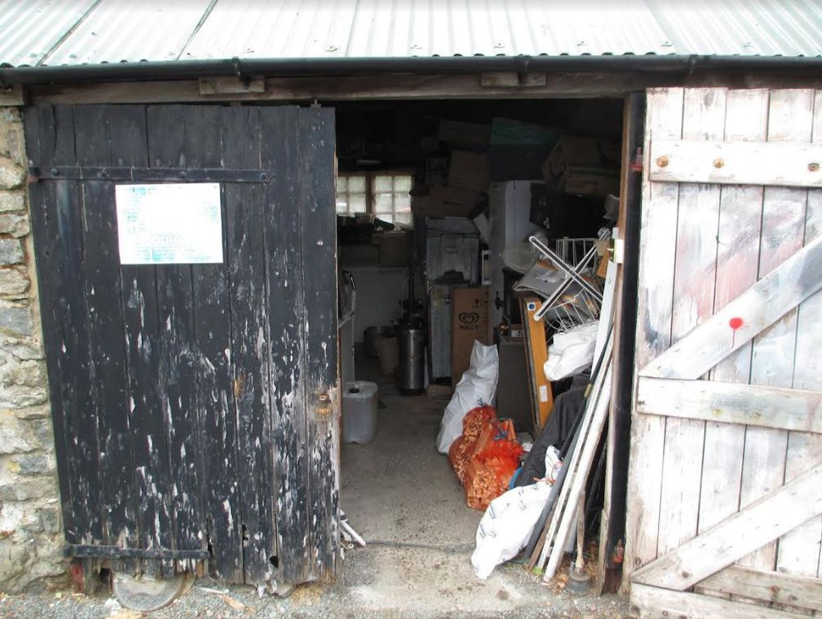 Inside the shed where food was found by inspectors