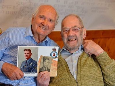 Wartime memories as RAF brothers reunited in home village
