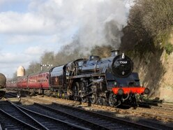 Newly-resorted locomotive ready for Severn Valley Railway autumn gala