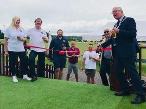 The new bar was declared open by Newport's mayor, Peter Scott