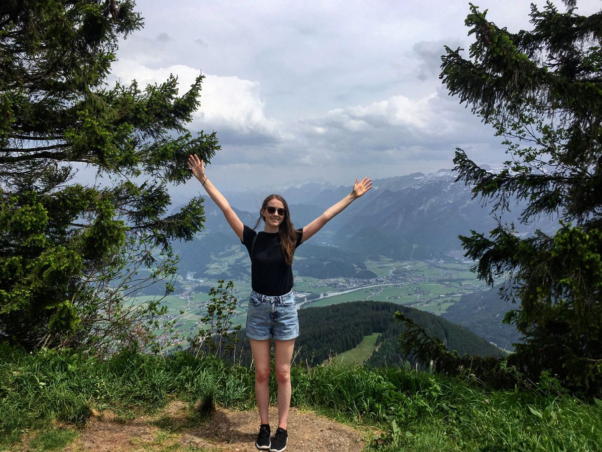 Laura Hunter on holiday in Austria