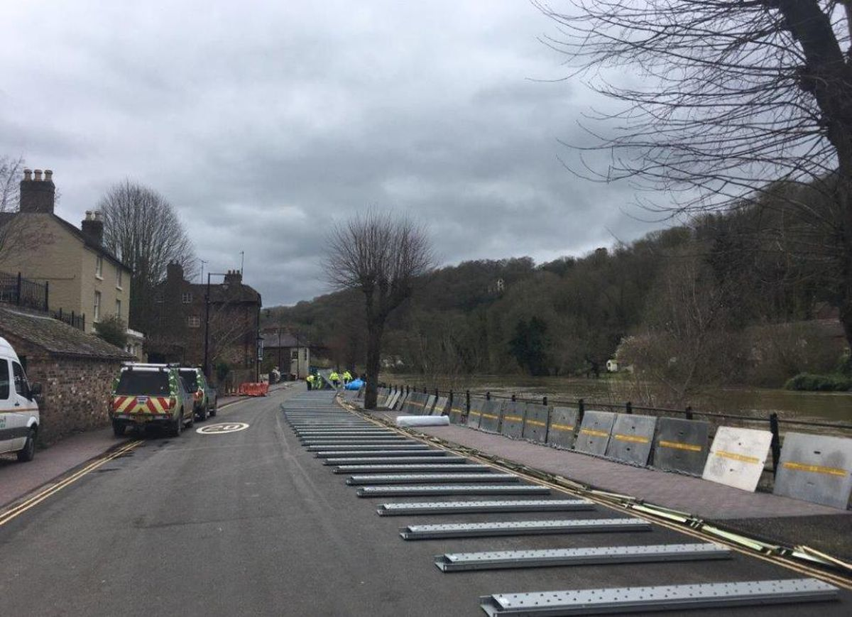 Barriers in Ironbridge have been dismantled