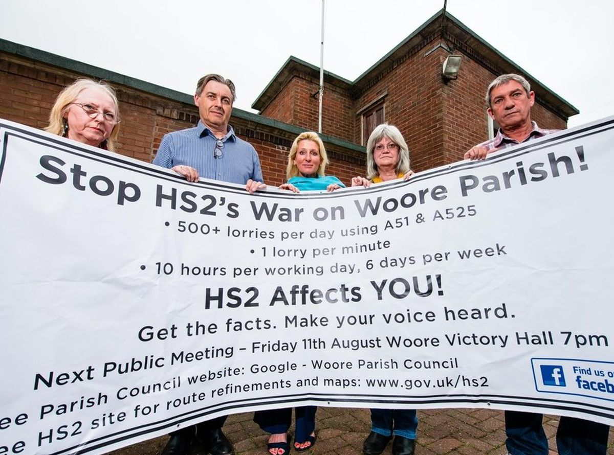 Villagers in Woore have campaigned hard against HS2 construction traffic