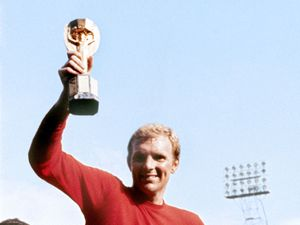 File photo dated 30/07/1966 of Bobby Moore. PRESS ASSOCIATION Photo. Issue date: Wednesday February 20, 2013. England's 1966 World Cup winning captain Bobby Moore died 20 years ago on February 24, 1993 aged just 51 following a battle against bowel cancer. See PA story SOCCER Moore. Photo credit should read: PA Wire. .