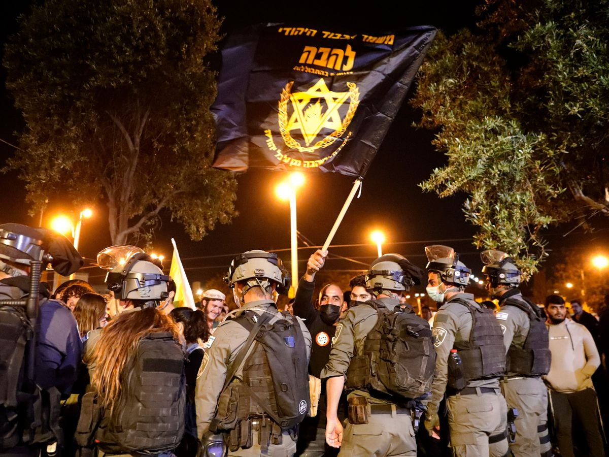Jewish extremists blocked by police