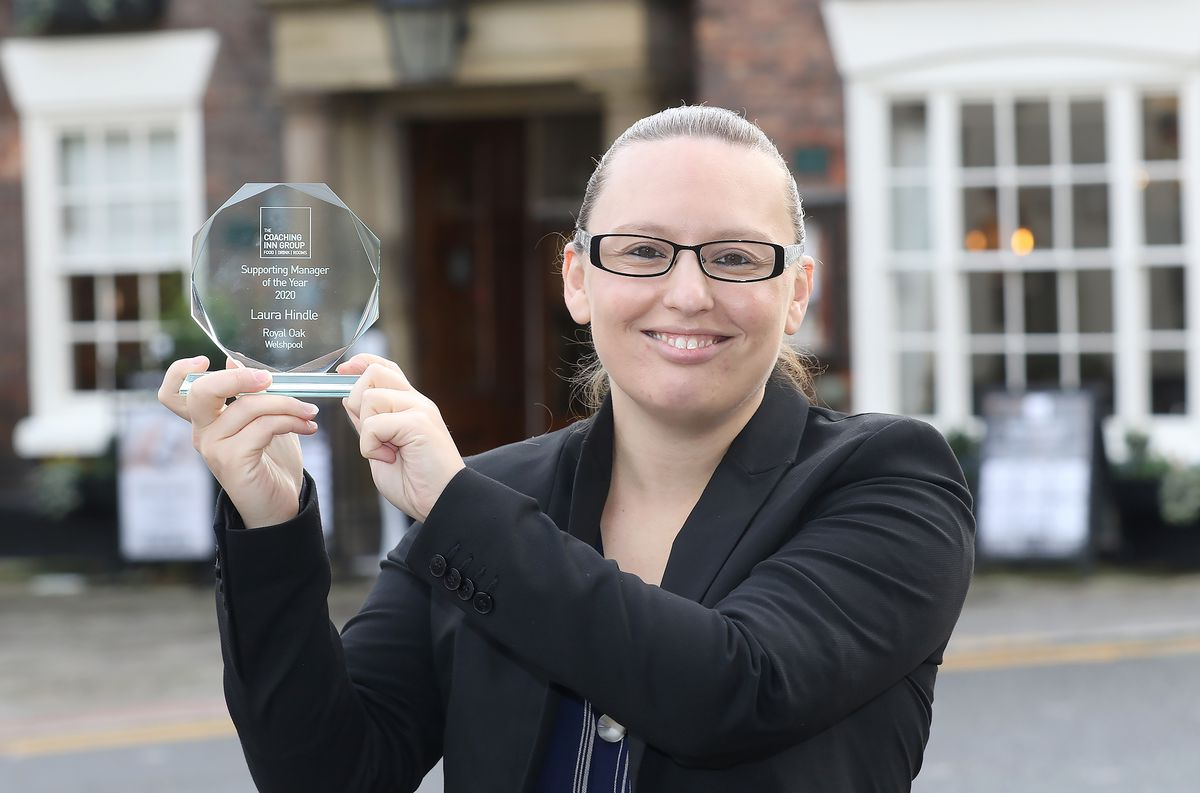 Laura Hindle with her award. Photo: Phil Blagg Photography