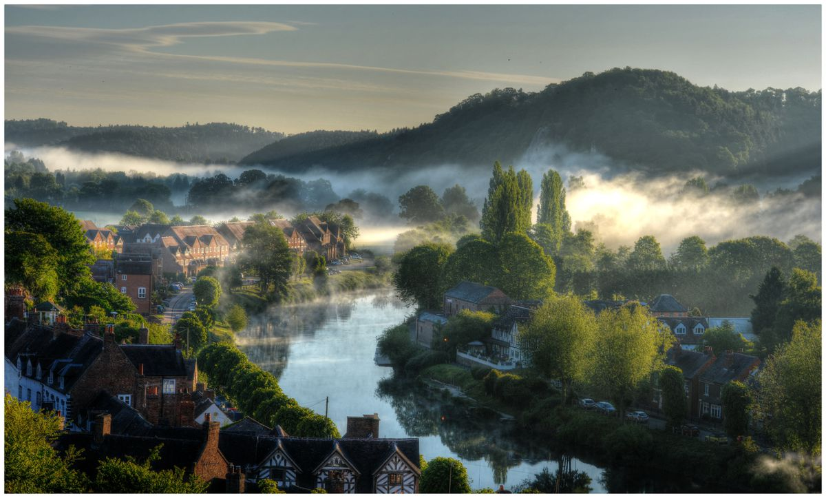 Olwyn Wall took this picture, titled Misty Morning On The Severn, which was highly commended by the judges in the competition