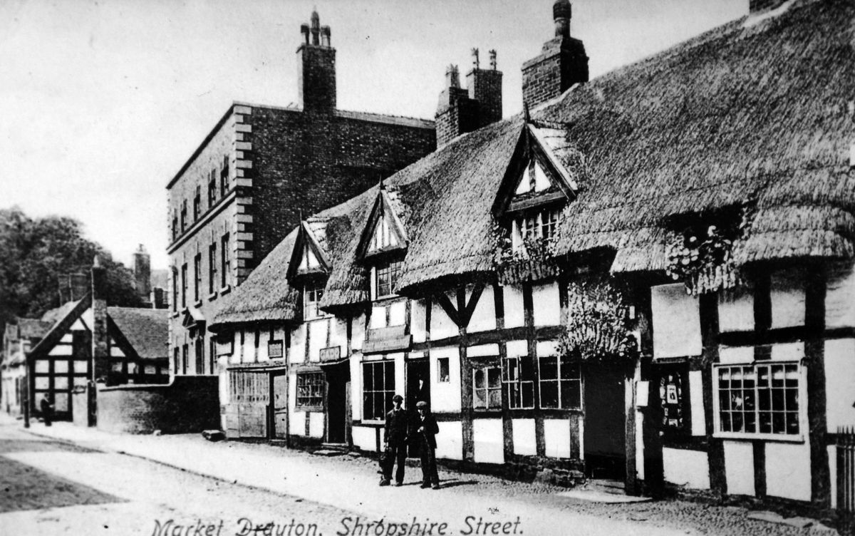 Shropshire Street in Market Drayton, as seen in a postcard which probably dates from the early years of the 20th century. This photo was loaned by Mrs June Edwards, of Market Drayton, but was originally among the collection of the late Miss Sybil Jones from the town.