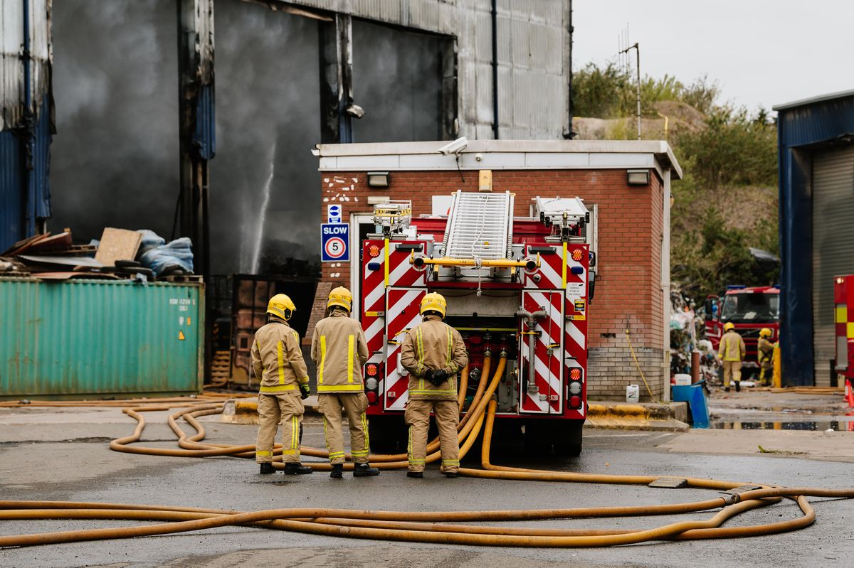 Smoke from the fire on Monday continues to cause problems for schools and the nearby M54
