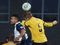 Leamington FC defender fooled by football in AFC Telford victory - VIDEO