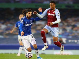 Everton's Andre Gomes (left) and Aston Villa's Ezri Konsa