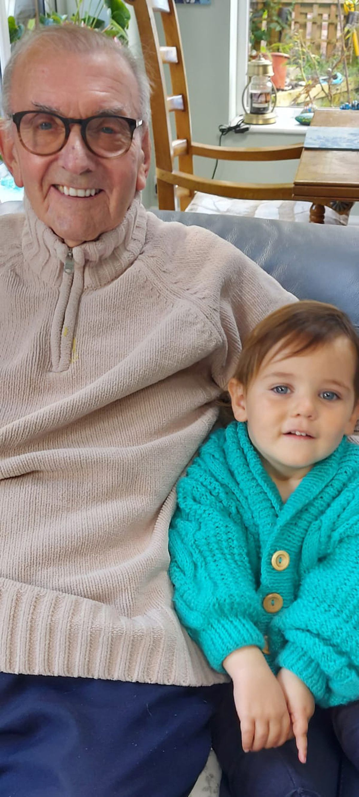 Roy with his great-grandson Cooper Goodall, who takes his name after his great-granddad.