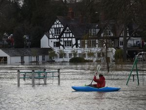 Flooding in the Quarry Park, Shrewsbury, last year. Photo: Russell Davies