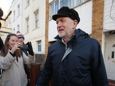 Newsnight denies photoshopping Jeremy Corbyn's hat to make him look more Russian