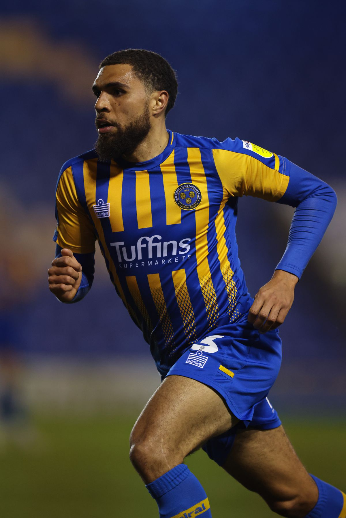 Scott Golbourne in his final appearance for Shrewsbury against MK Dons in February (AMA)