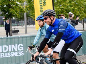 Chris Hoy and Josh Littlejohn cycling
