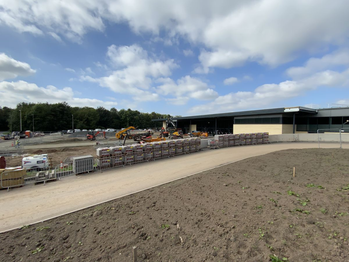 The site of the new supermarket in Rocks Green, Ludlow