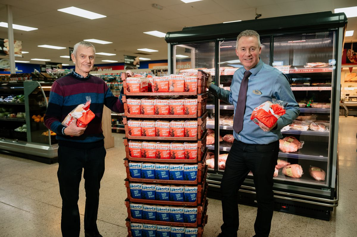 Stans superstore in St Martins is doing free deliveries to vulnerable shoppers over 60. Pictured from left Rob Faulks and Andrew Faulks