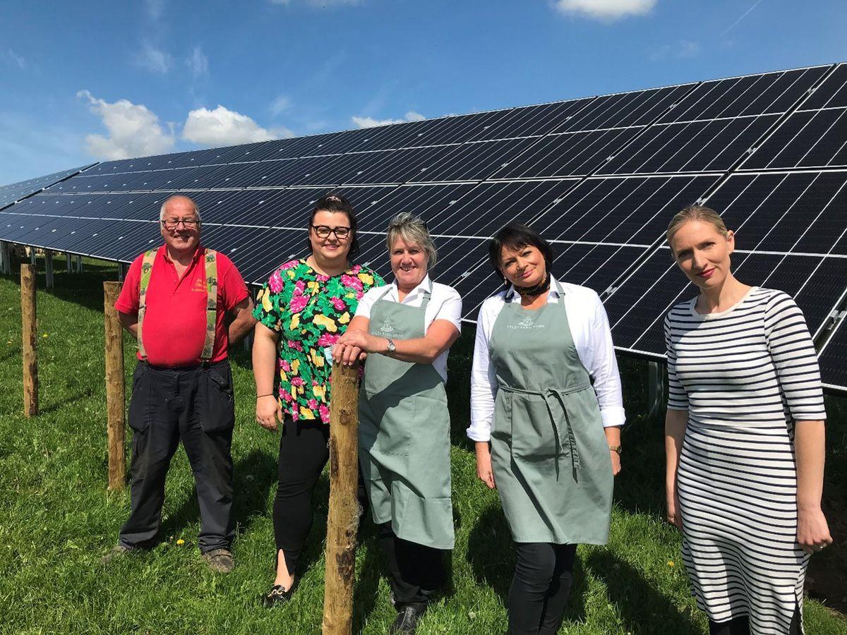 Apley Farm Shop Village where solar panels have been installed