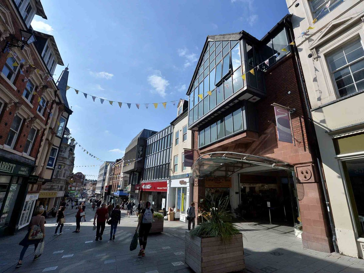 Shrewsbury's Pride Hill shopping centre