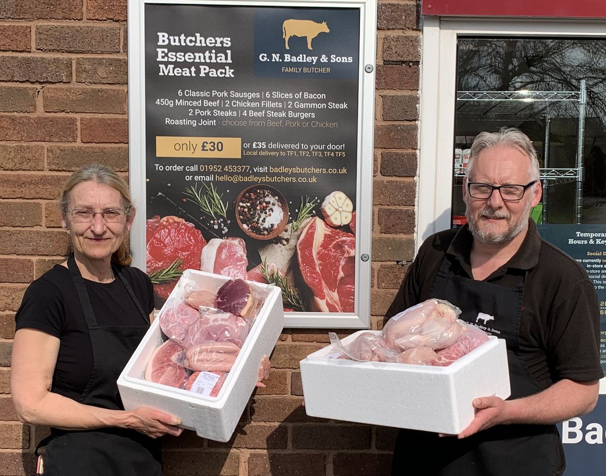 Meat is now delivered in cold boxes to keep it fresh