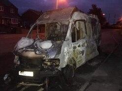 Blaze destroys van near Shrewsbury
