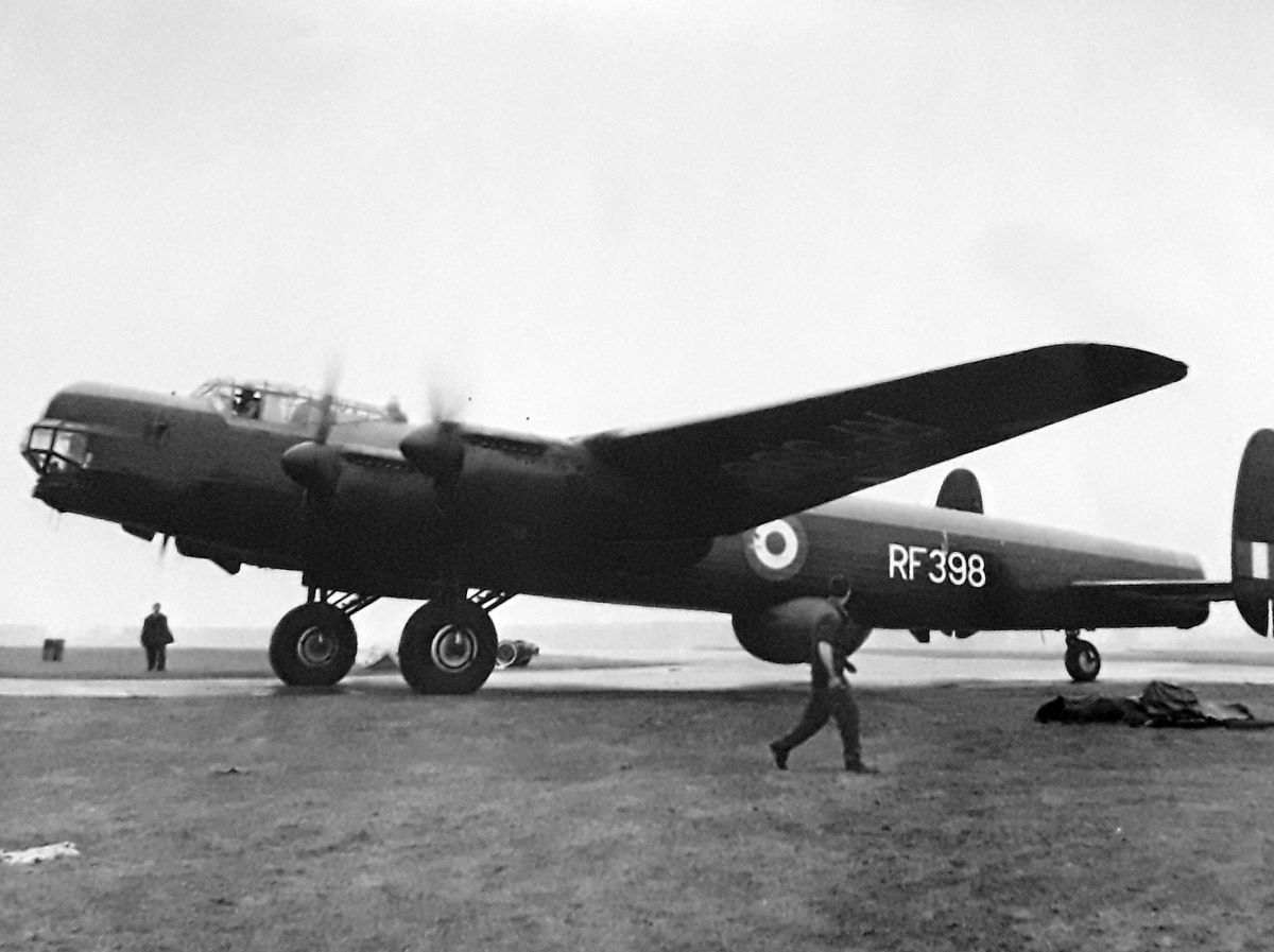 The last flight of  Avro Lincoln bomber RF - this plane is now to the RAF Museum at Cosford. This picture emailed in by Bomber Command historian Rob Davis, of Apley, Telford. rob.davis@blueyonder.co.uk Rob said: 'When my friend Mike 'Lancaster At War' Garbett died he left me a number of items, one of which is an A3 size high quality black-and-white photo of an Avro Lincoln RF398, taken at an unknown date as the aircraft was leaving Watton for preservation at Henlow.  The Lincoln is now at Cosford. I don't really need the photo as Lincolns are not my interest, so I ask if you know on a Lincoln enthusiast who would like to have the photo?  No charge. Rob Davis, Apley. measures 12 x 15 inches.  Contact details are ok but just the email address please.  It will have to be collected.' According to the museum's accession details the aircraft was flown from Watton to RAF Henlow on April 30, 1963, for storage for a future RAF Museum. It was moved to RAF Cosford for storage in the late summer of 1968. Does not say when it became a museum exhibit. Library code: Cosford nostalgia 2020..